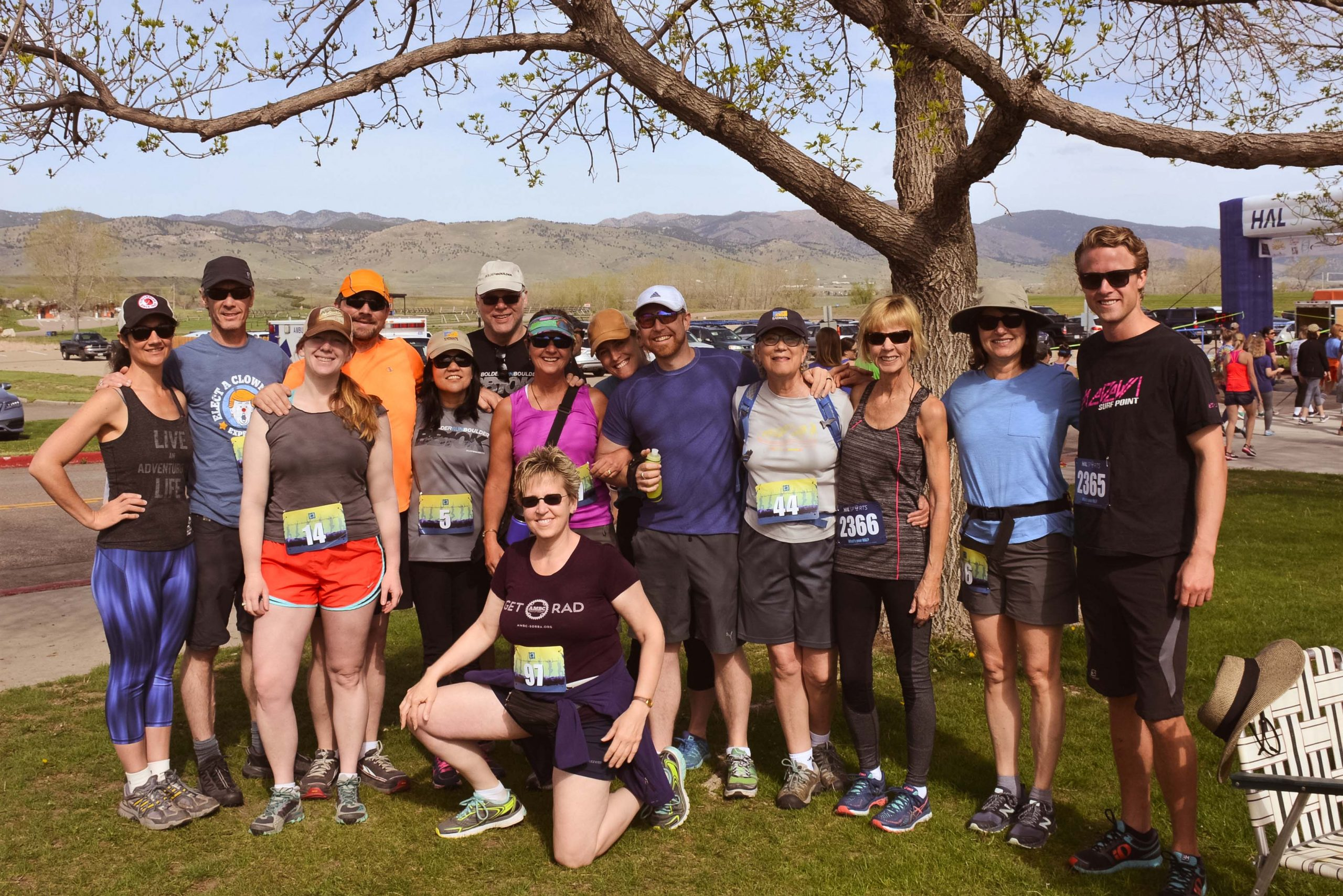Windhorse Community Members at the run for suicide awareness.