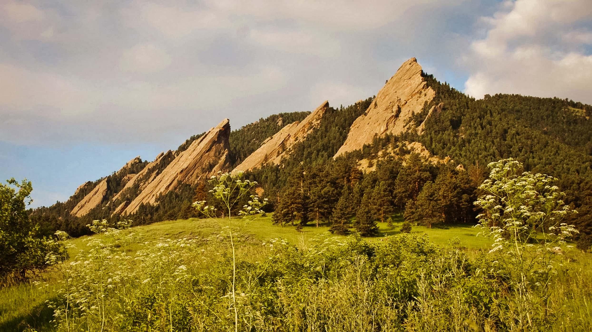 Boulder Flatirons by Lori Heintzelman
